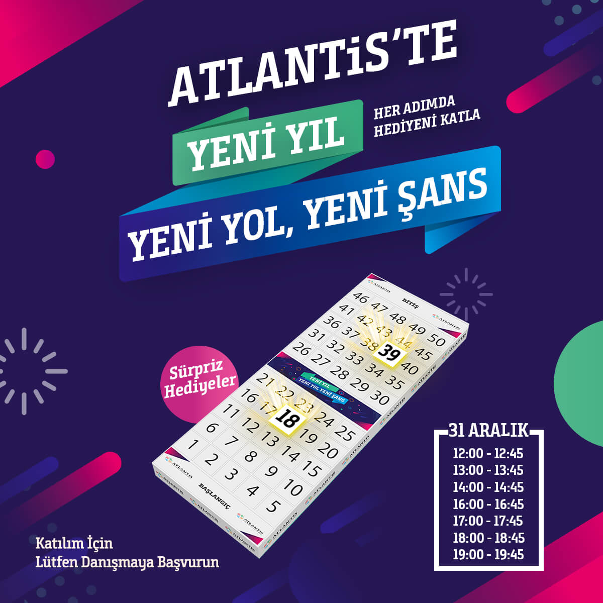 Atlantis'te Yeni Yıl Yeni Yol Yeni Şans